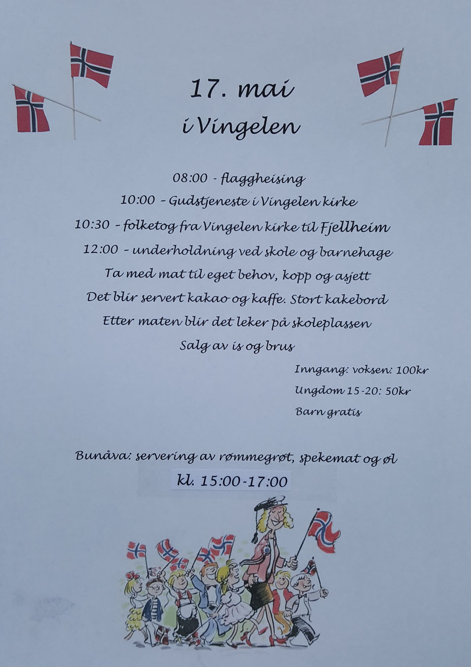 17 mai program Vingelen